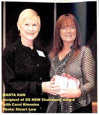 Marta Kan receives DS NSW Chairman's Award